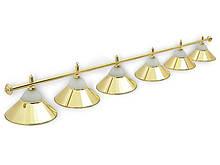 Світильник більярдний Classic Gold 6 плафонів