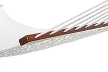 Плетений Гамак білого кольору Arlio Classic. Двомісний з планкою 3.2 м х 1.2 м