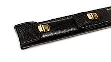 Чехол-Колчан для кия черный крокодил с карманом для аксессуаров и наплечным ремнем