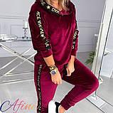 Женский спортивный костюм двухнить на плюше батник и штаны размер: 42-44, 44-46, 48-50, 52-54, фото 2