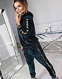 Женский спортивный костюм двухнить на плюше батник и штаны размер: 42-44, 44-46, 48-50, 52-54, фото 5