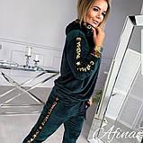 Женский спортивный костюм двухнить на плюше батник и штаны размер: 42-44, 44-46, 48-50, 52-54, фото 3