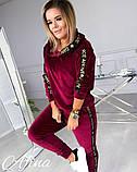 Женский спортивный костюм двухнить на плюше батник и штаны размер: 42-44, 44-46, 48-50, 52-54, фото 6