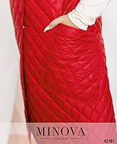 Жилетка женская из плащевки на синтепоне цвет красный, больших размеров от 48 по 66, фото 2