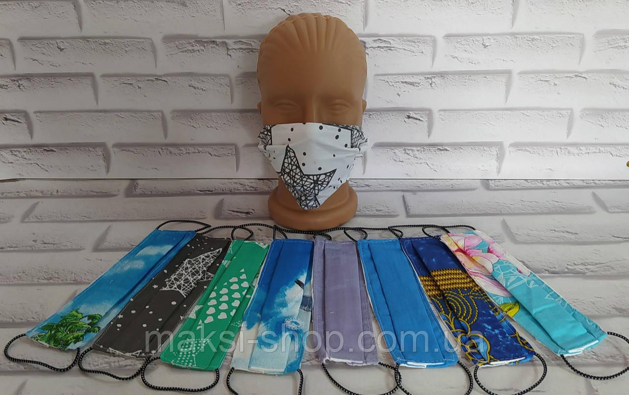 Защитная маска многоразовая хлопок не медицинская