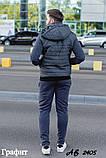 Мужской теплый спортивный костюм тройка батник+штаны+жилет трехнить размеры: 48, 50, 52, 54, фото 5