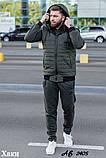 Мужской теплый спортивный костюм тройка батник+штаны+жилет трехнить размеры: 48, 50, 52, 54, фото 6