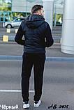 Мужской теплый спортивный костюм тройка батник+штаны+жилет трехнить размеры: 48, 50, 52, 54, фото 7