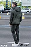 Мужской теплый спортивный костюм тройка батник+штаны+жилет трехнить размеры: 48, 50, 52, 54, фото 8