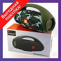 Портативная блютуз колонка JBL BOOMBOX MINI E10 с USB, SD, FM, Bluetooth водонепроницаемая - КАМУФЛЯЖ