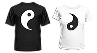"""Парные футболки """"Инь и Янь - 2"""""""