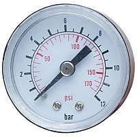 Манометр для контроллера 12 бар 40мм WETRON (779741), фото 1