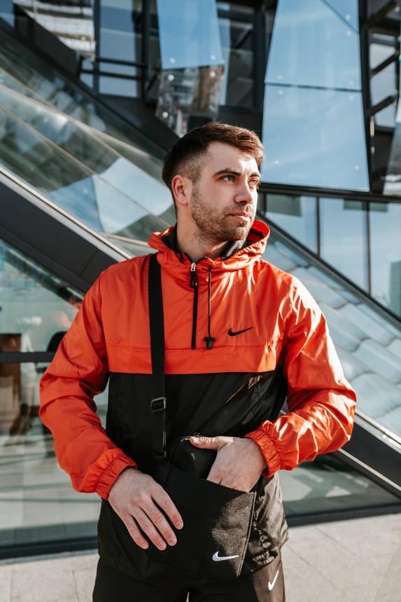 Анорак Nike President Мужской Черный - Оранжевый найк ветровка, фото 2