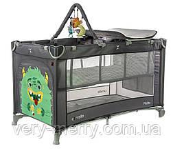 Детский манеж-кровать Carrello Molto CRL-11604 (серый цвет)