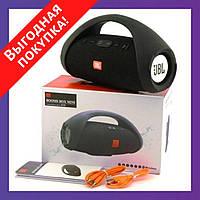 Портативная блютуз колонка JBL BOOMBOX MINI E10 с USB, SD, FM, Bluetooth водонепроницаемая - ЧЕРНАЯ