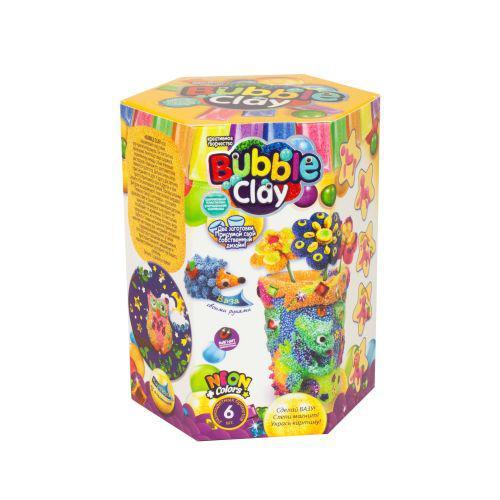 """Набор шарикового пластилина """"BUBBLE CLAY"""" с заготовкой вазы для оформления (рус) BBC-V-04"""