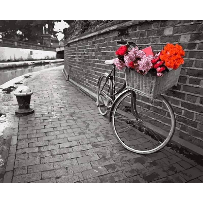 Картина по номерах Babylon Велосипед любви. Фотохуд. Ассаф Франк 40х50см VP695 набір для розпису по номерах в коробці