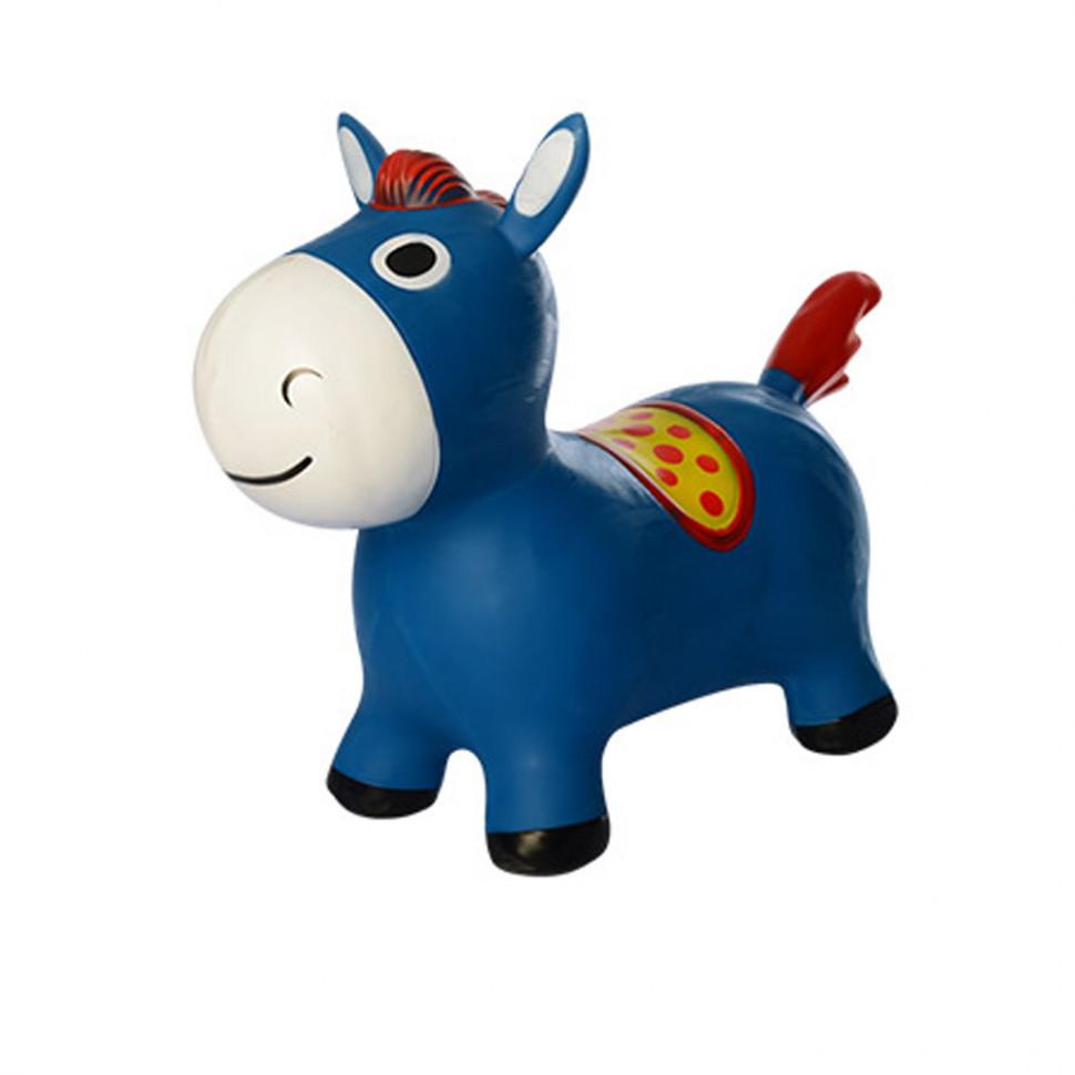 """Резиновый прыгун """"Лошадка"""" Синяя MS 2994"""