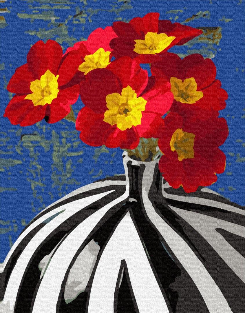Картина за номерами BrushMe Цветы в сюрреалестической вазе GX34152 40х50см набір для розпису, фарби та пензлі