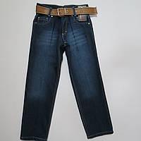 Распродажа!Утеплённые джинсы/брюки на флисе для мальчиков 128р-152р