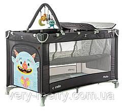 Детский манеж-кровать Carrello Molto CRL-11604 (темно-серый цвет)