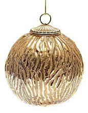 Елочный шар, античное золото 10см BonaDi 773-340