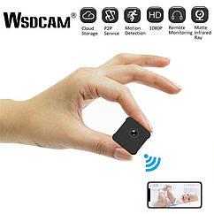 Wsdcam A12 1080P беспроводная охранная мини WiFiIP камера с батареей.Pixelplus