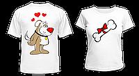 """Парные футболки """"Пёсик и сладкая косточка"""", фото 1"""