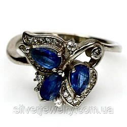 Серебряное кольцо с КИАНИТОМ (натуральный!!), серебро 925 пр. Размер 17,25