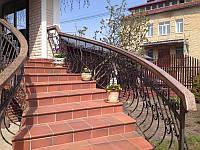 Поручни перила гранитные для лестниц