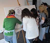 Организация написания коллективной картины с профессиональным художником на мероприятии