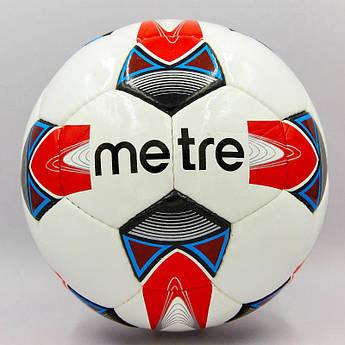 Мяч футбольный №4 PU ламин. METRE ,1734,1735 (№5, 5 сл., сшит вручную, цвета в ассортименте)