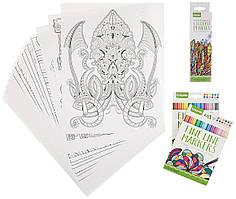 Набор для рисования Crayola Adult Coloring Book & Marker Art Activity Set
