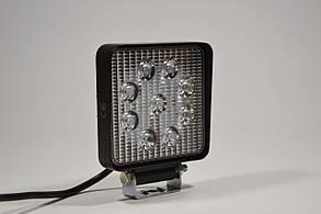 Светодиодная LED фара рабочая 27W/60° 27Вт,(3Вт*9ламп)Широкий луч