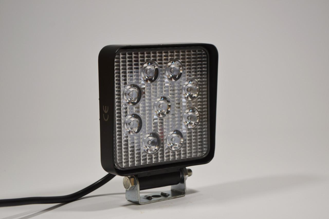 Светодиодная LED фара рабочая 27W/ 27Вт,(3Вт*9ламп) Узкий луч