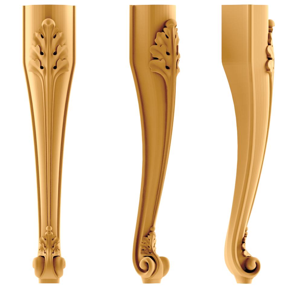 Изготовим ножки мебельные резные по спецзаказу