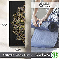 Коврик для йоги REVERSIBLE PEACOCK LACE YOGA MAT Gaiam