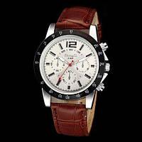 Мужские наручные часы Geneva на коричневом ремешке