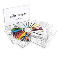 Набор для рисования Crayola Color Escapes Coloring Pages & Pencil Kit Garden Edition