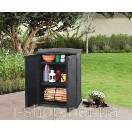 Ящик для хранения RATTAN STYLE - BASE SHED Compact Garden 230 л, фото 2