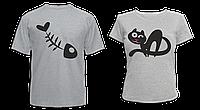 """Парные футболки """"Киса и Рыбка"""""""