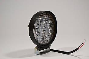 Светодиодная LED фара круглая рабочая 27W/60° 27Вт,(3Вт*9ламп) Широкий луч