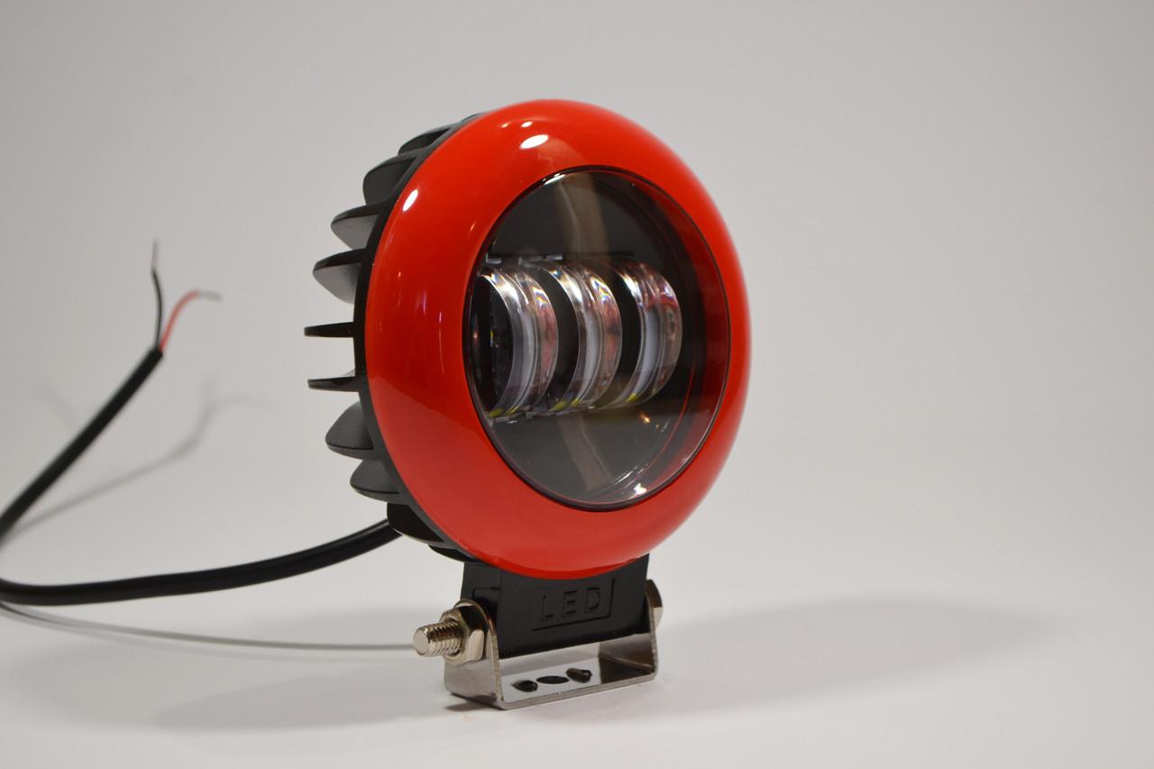 Дополнительная светодиодная LED фара 45Вт Круглая Четкой световойтеневойграницей