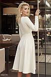 Платье миди с вырезом-каре молочное, фото 4