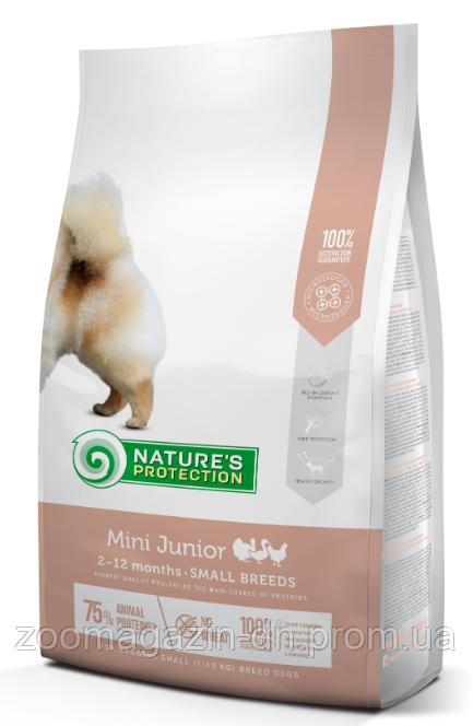 Nature's Protection Mini Junior Small Breeds Сухой корм для щенков малых пород, 2 кг
