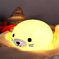 Силиконовый ночник «Морской котик» 3DTOYSLAMP, фото 1