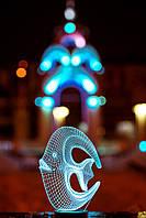 """3D светильник """"Коралловая рыбка"""" 3DTOYSLAMP, фото 1"""
