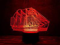 "Сменная пластина для 3D ночника ""Корабль"" 3DTOYSLAMP, фото 1"