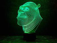 """Сменная пластина для 3D светильников """"Шрек"""" 3DTOYSLAMP, фото 1"""