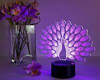 """3D светильник-ночник """"Павлин"""" 3DTOYSLAMP, фото 1"""